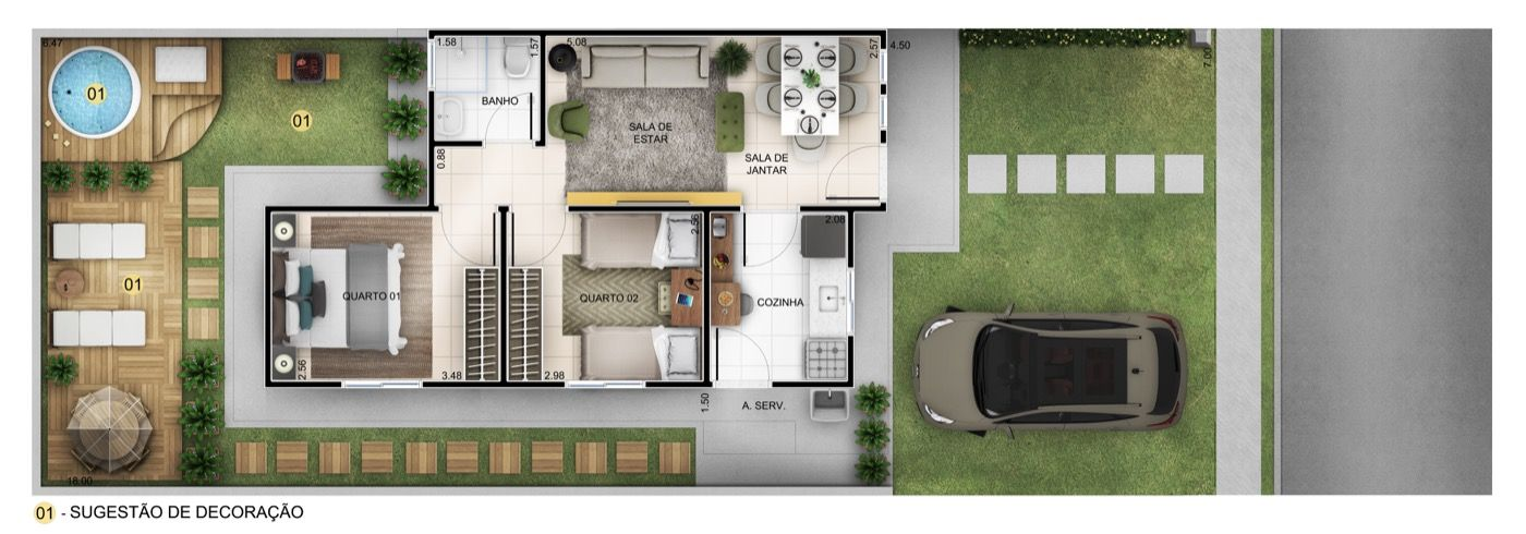 Planta Baixa Residencial Vila Real